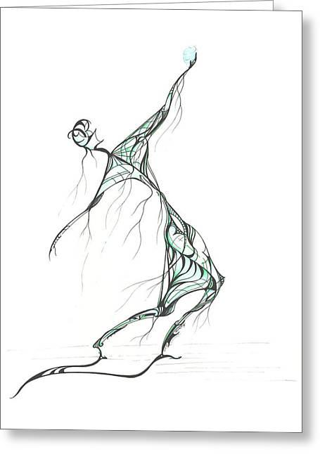 Reach Drawings Greeting Cards - Water Sky Greeting Card by Karen  Renee