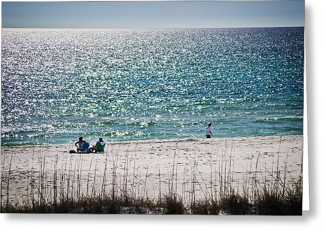 Panama City Beach Fl Greeting Cards - Water Sparkles Greeting Card by George Taylor