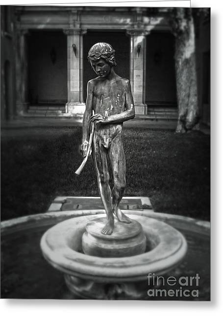 Water Spirit - Black And White Greeting Card by Gregory Dyer