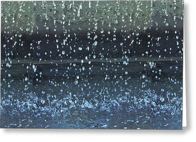 Abstract Rain Greeting Cards - Fountain Greeting Card by Susie Capezzone