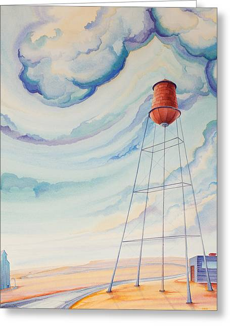 Water Tower Greeting Cards - Water Tank I Greeting Card by Scott Kirby