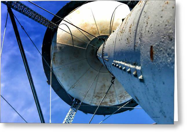 Steel Water Feature Greeting Cards - Water Tower 03 Greeting Card by Thomas Woolworth