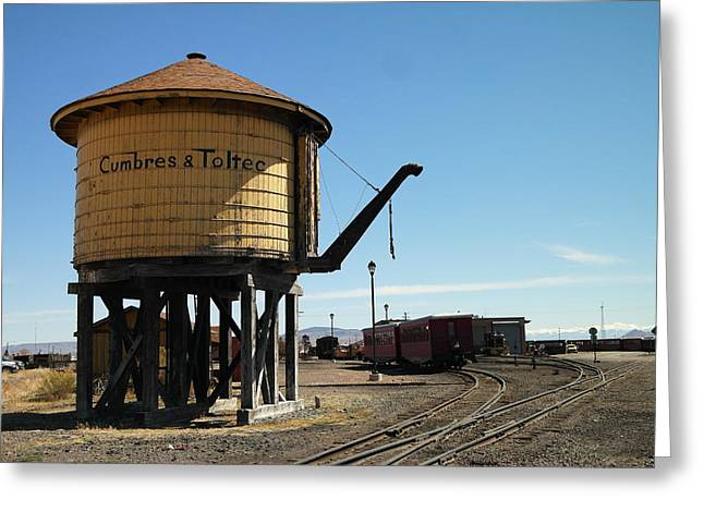 Old Relics Photographs Greeting Cards - WATER tOWER Greeting Card by Jeff  Swan