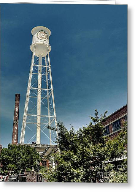 Nc Fine Art Greeting Cards - Water Tower of Luck Greeting Card by Emily Enz