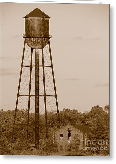 Old Tower Greeting Cards - Water Tower Greeting Card by Olivier Le Queinec
