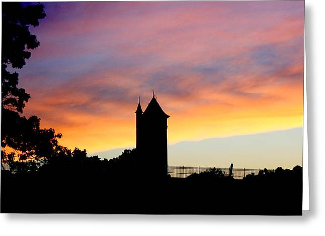 Pierre Chamblin Greeting Cards - Water Tower Greeting Card by Pierre Chamblin