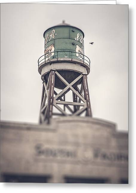 Commercial Greeting Cards - Water Tower Greeting Card by Yo Pedro