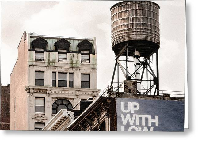 Water Towers 14 - New York City Greeting Card by Gary Heller