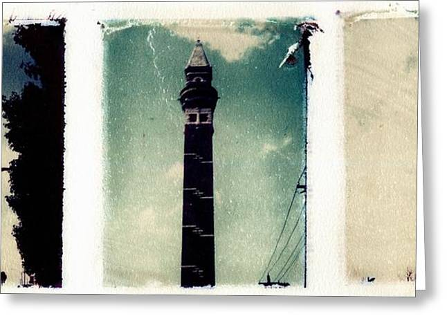 Transfer Greeting Cards - Water Towers St. Louis Greeting Card by Jane Linders