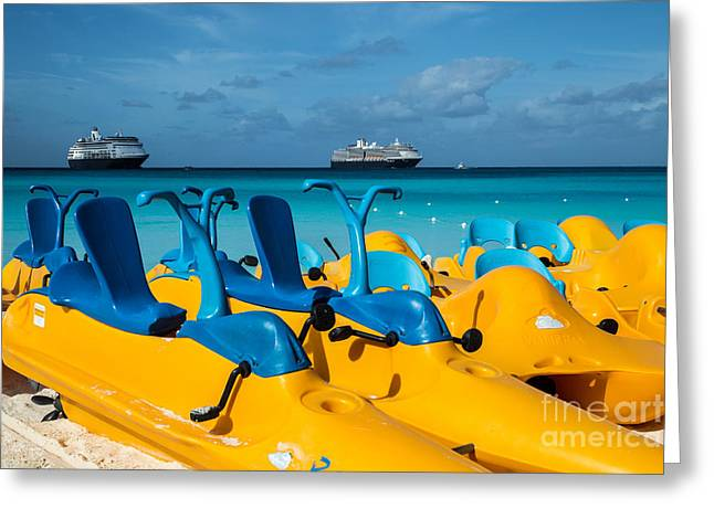 Toy Boat Greeting Cards - Water Toys of the Bahamas Greeting Card by Rene Triay Photography