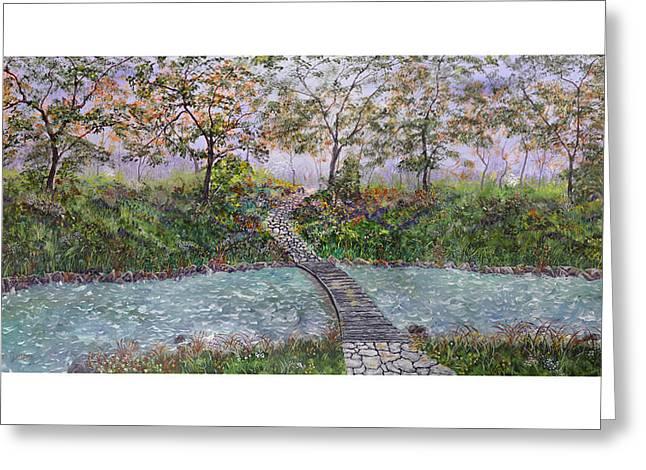 Water Under The Bridge Greeting Card by Leo Gehrtz