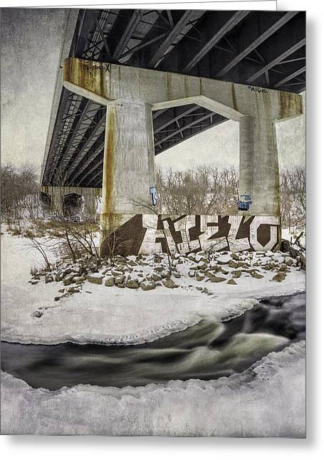 Locust Greeting Cards - Water Under the Bridge Greeting Card by Scott Norris