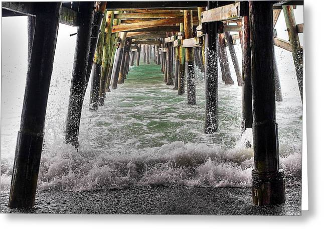 Water Under The Pier Greeting Card by Richard Cheski