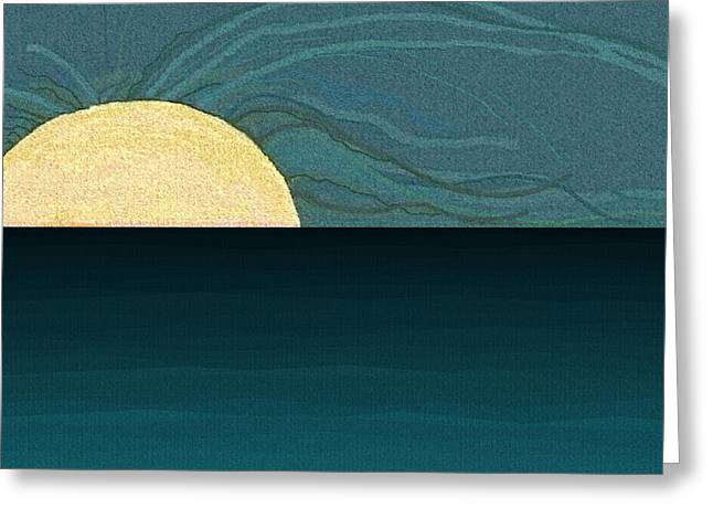 Abstract Seascape Digital Greeting Cards - Water Greeting Card by Val Arie
