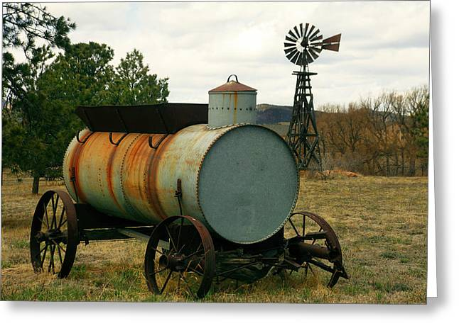 Ravaged By Time Greeting Cards - Water Wagon Greeting Card by Mike Flynn
