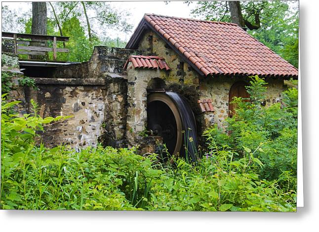 Radnor Greeting Cards - Water Wheel - Eastern College Greeting Card by Bill Cannon