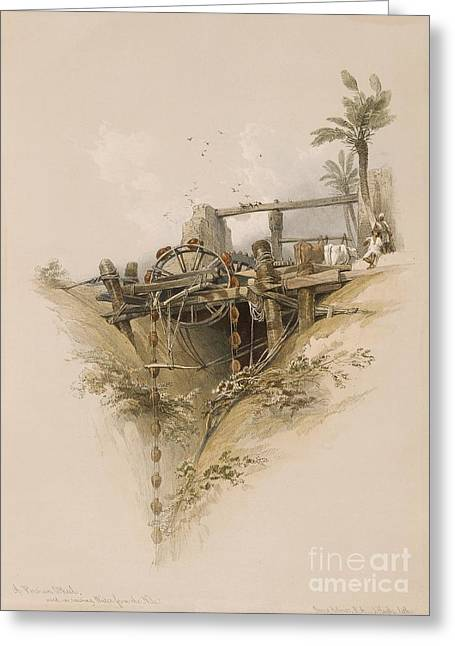 Northern Africa Greeting Cards - Water Wheel In Nubia, 1830s Greeting Card by Asian And Middle Eastern Division