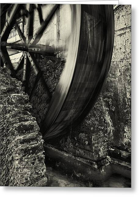 Wheels Photographs Greeting Cards - Water Wheel Greeting Card by Mike Lang