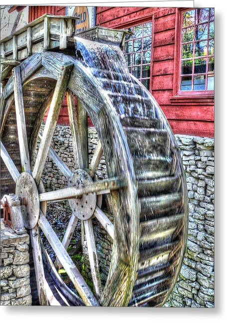 Water Wheel On Mill Greeting Card by John Straton