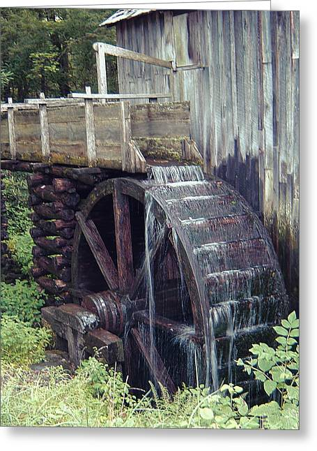 Mechanism Photographs Greeting Cards - Water Wheel Greeting Card by Phyllis Taylor