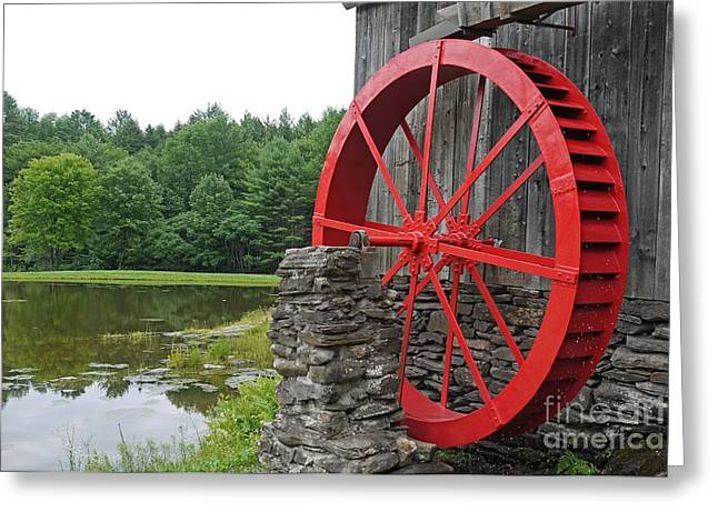 Best Sellers -  - Historic Country Store Greeting Cards - Water Wheel Vermont Greeting Card by Edward Fielding