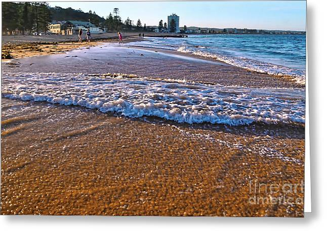 Sunset At The Beach Greeting Cards - Water will Take its own Course Greeting Card by Kaye Menner
