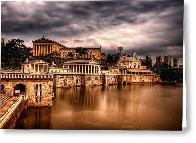 Philadelphia Art Museum Greeting Cards - Water Works Greeting Card by Rob Dietrich