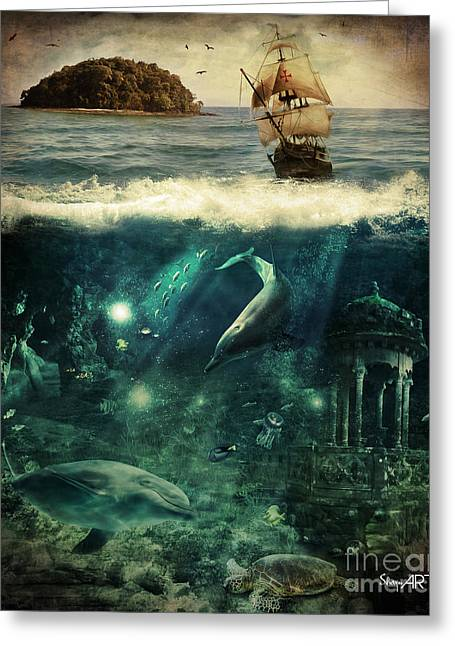 Pirates Greeting Cards - Water World Greeting Card by Donika Nikova