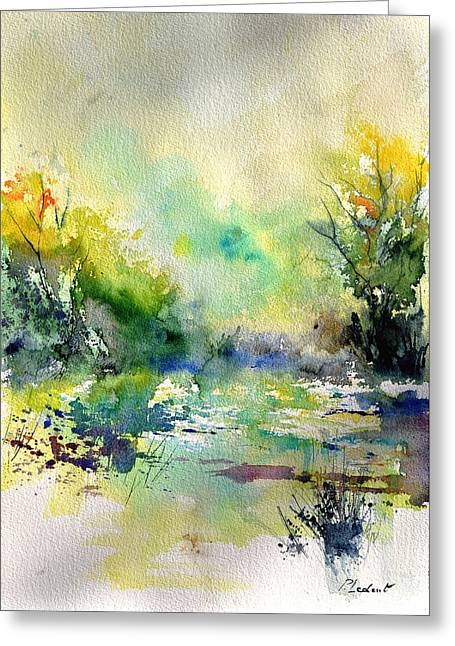 Lanscape Paintings Greeting Cards - Watercolor 45319041 Greeting Card by Pol Ledent