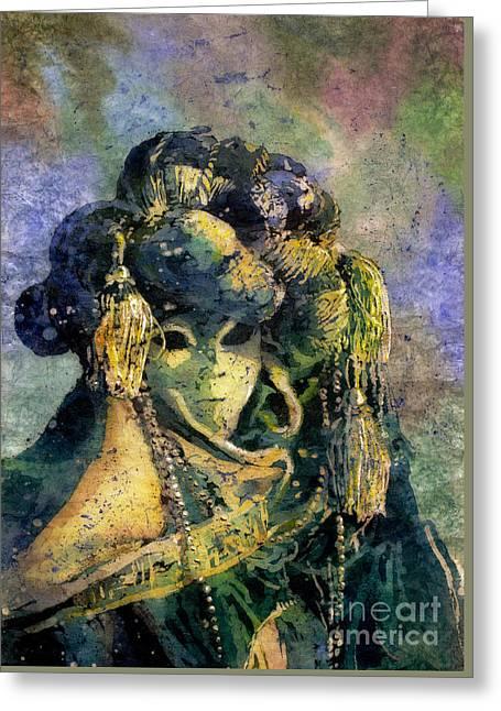 Watercolor Society Greeting Cards - Watercolor batik Venice Italy Greeting Card by Ryan Fox