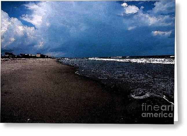 Sandy Beaches Greeting Cards - watercolor Beach Greeting Card by Susanne Van Hulst