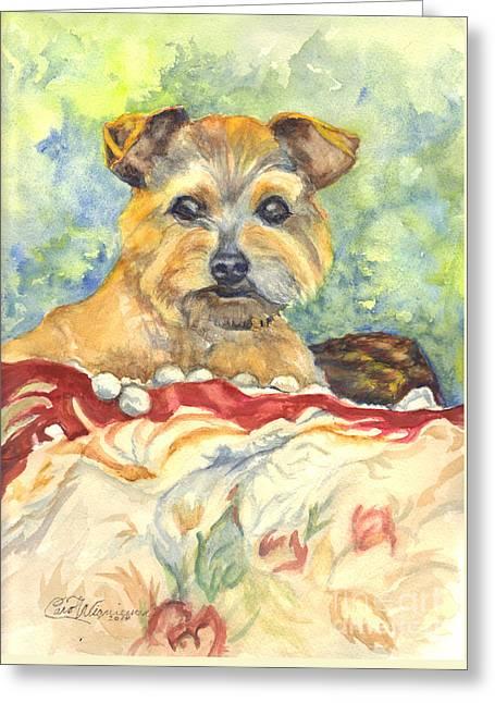 Transparent Drawings Greeting Cards - Dexter Greeting Card by Carol Wisniewski