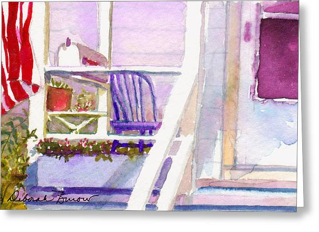 Snippet Greeting Cards - Purple Porch Greeting Card by Deborah Burow