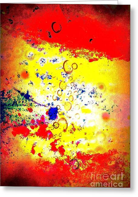 Merged Mixed Media Greeting Cards - Watercolor Dream Greeting Card by Brian Raggatt