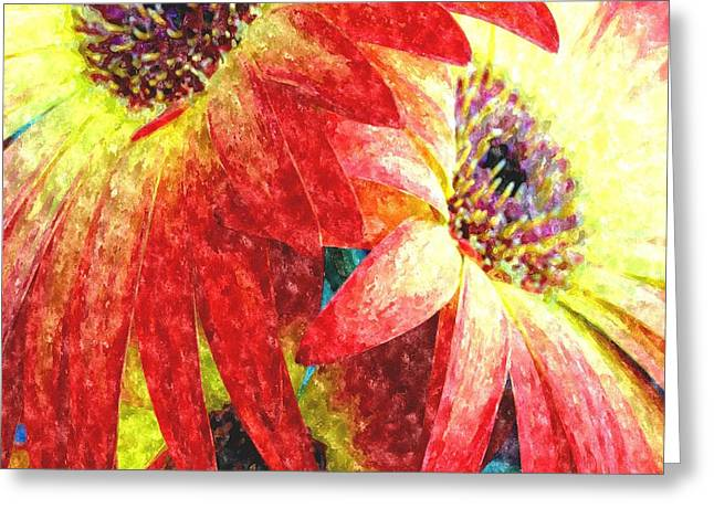 Commercial Photography Paintings Greeting Cards - Watercolor Flowers For Miriam Meij H a Greeting Card by Gert J Rheeders