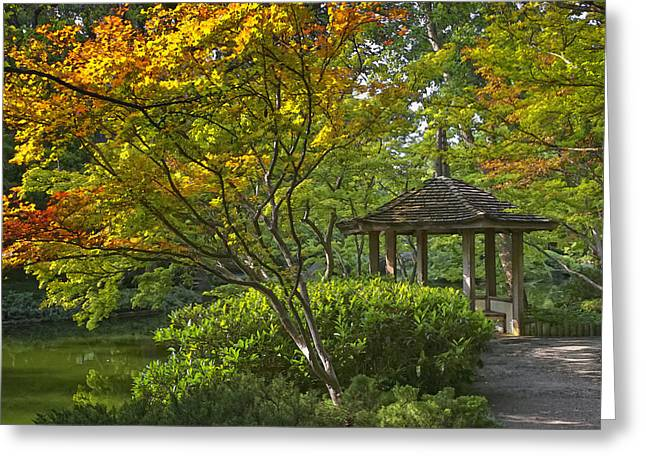 Cupola Greeting Cards - Watercolor Gardens Greeting Card by Joan Carroll