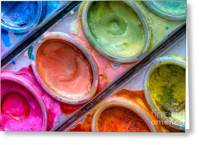 Watercolor Ovals One Greeting Card by Heidi Smith