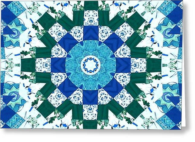 Watercolor Quilt Greeting Card by Barbara Griffin