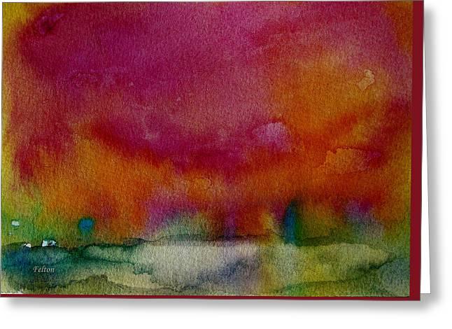 Wet Into Wet Watercolor Greeting Cards - Watercolor Sea Expression I 4-24-12 julianne felton Greeting Card by Julianne Felton