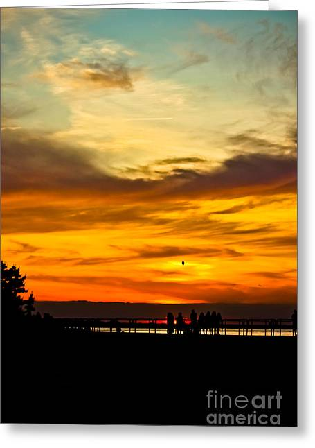 Original Art Photographs Greeting Cards - Watercolor Sky Greeting Card by Colleen Kammerer