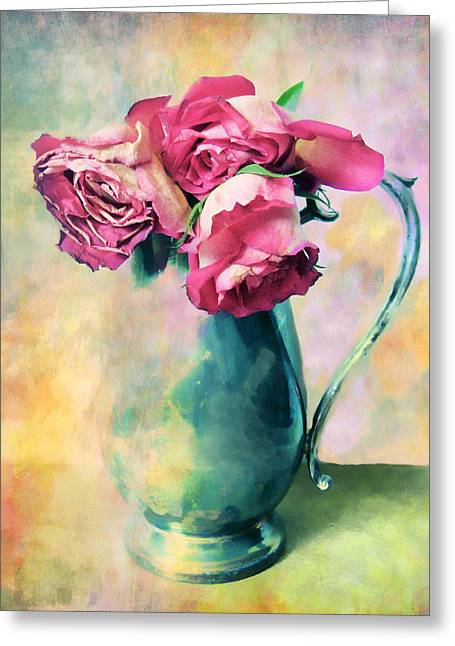 Colorful Roses Greeting Cards - Watercolor Still Life Greeting Card by Jessica Jenney