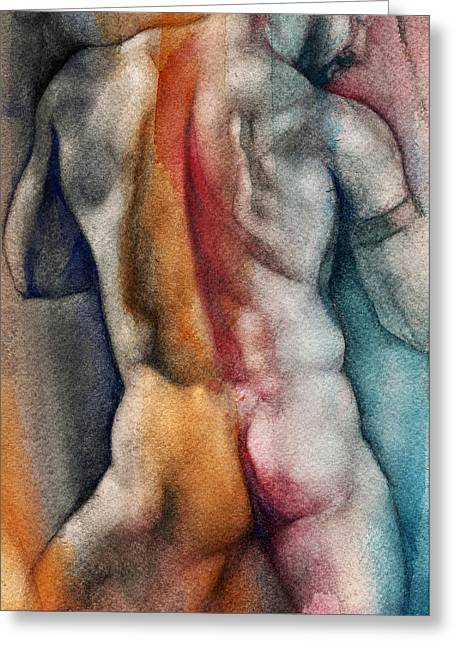 Chris Lopez Greeting Cards - Watercolor Study 10 Greeting Card by Chris  Lopez