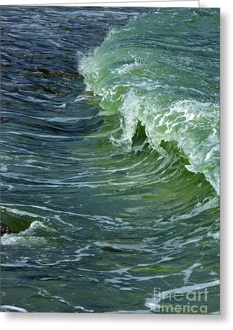 Amazing Jules Greeting Cards - Watercolor Wave Greeting Card by Amazing Jules