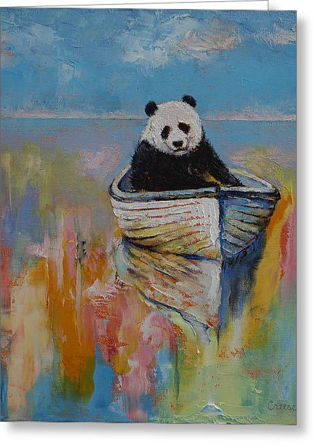 Kid Paintings Greeting Cards - Watercolors Greeting Card by Michael Creese