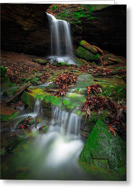 Frankfort Mineral Springs Waterfall  Greeting Card by Emmanuel Panagiotakis