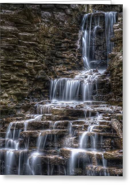 Blurs Greeting Cards - Waterfall 2 Greeting Card by Scott Norris