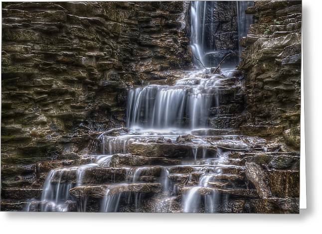 Waterfall 2 Greeting Card by Scott Norris
