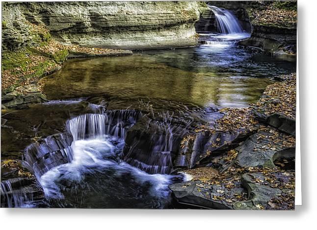 Ithaca Greeting Cards - Waterfall 2299 Greeting Card by Karen Celella