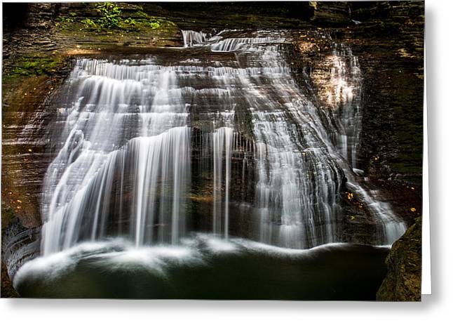 Buttermilk Falls Greeting Cards - Waterfall 3 Greeting Card by Barbara J