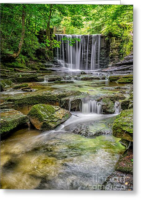Weired Greeting Cards - Waterfall Greeting Card by Adrian Evans